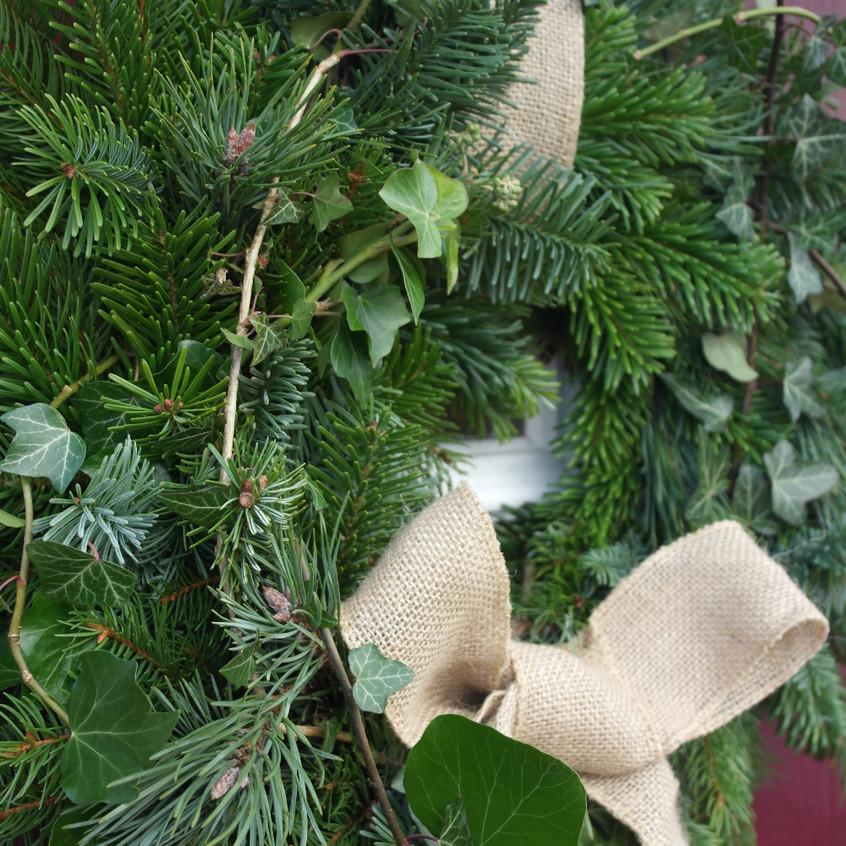 Natural door wreath