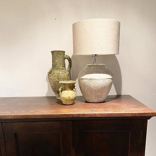 Medium Cement rustic look grey lamp bases