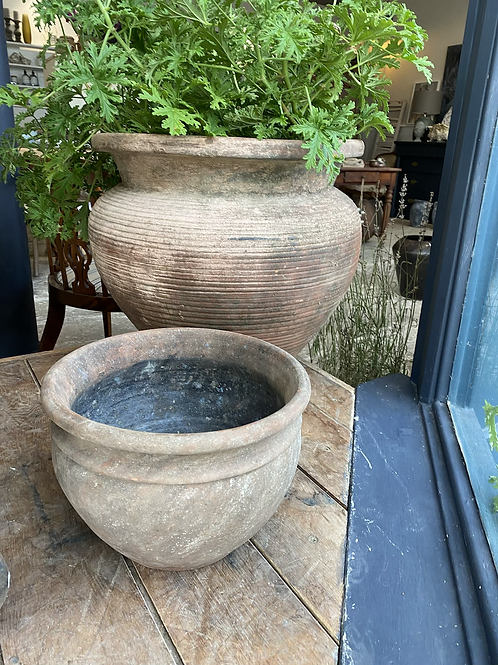 Large terracotta antique plant pot