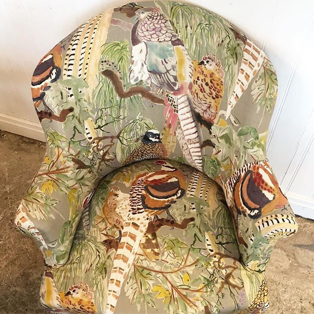 We have been upholstering so many chairs