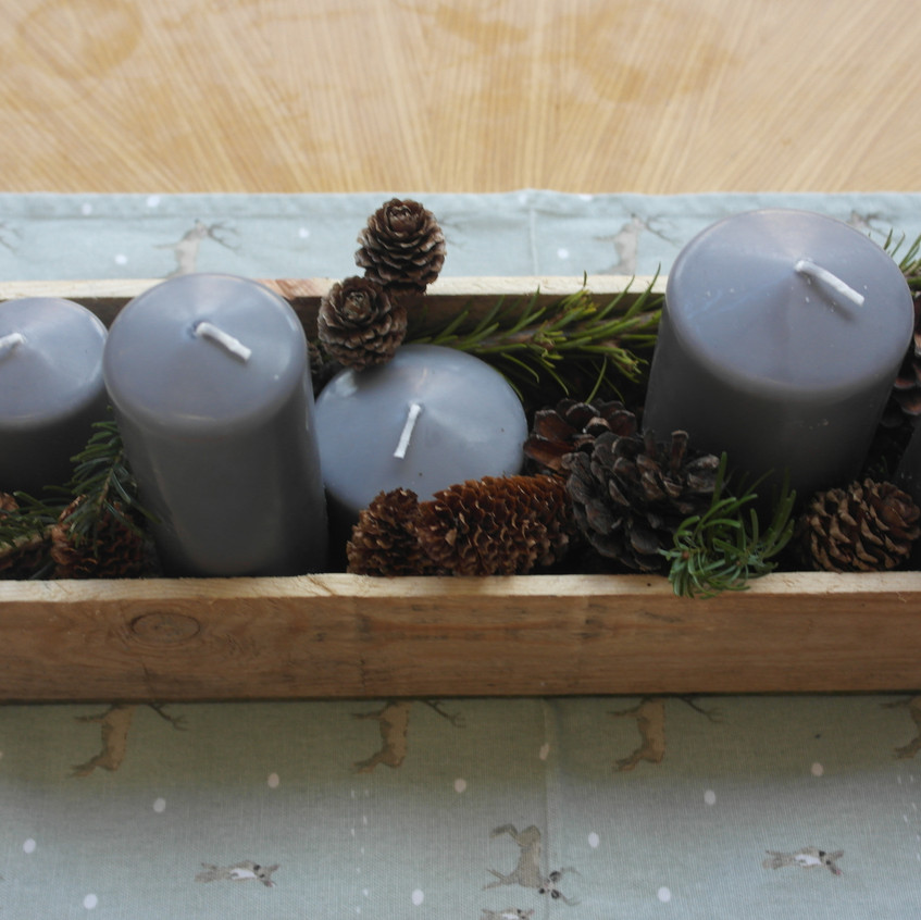 Table decoration with candles