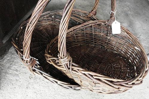 Wicker flower baskets