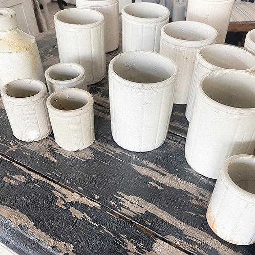 Vintage jam pots