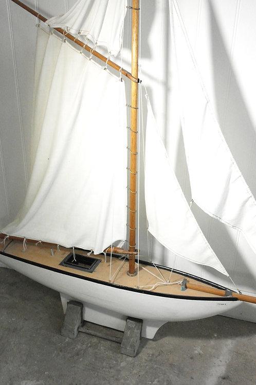 Vintage white boat
