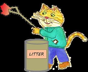 Bernie picks litter.png