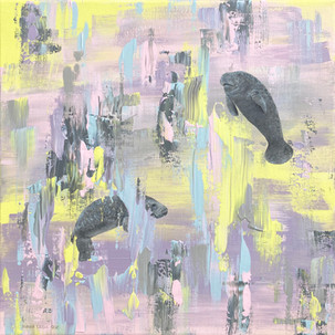 Amidst the manatees (sold)