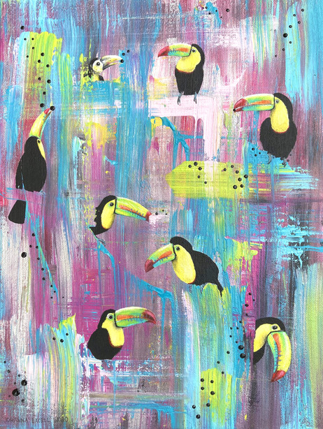 Toucany trippy tropics (not for sale)