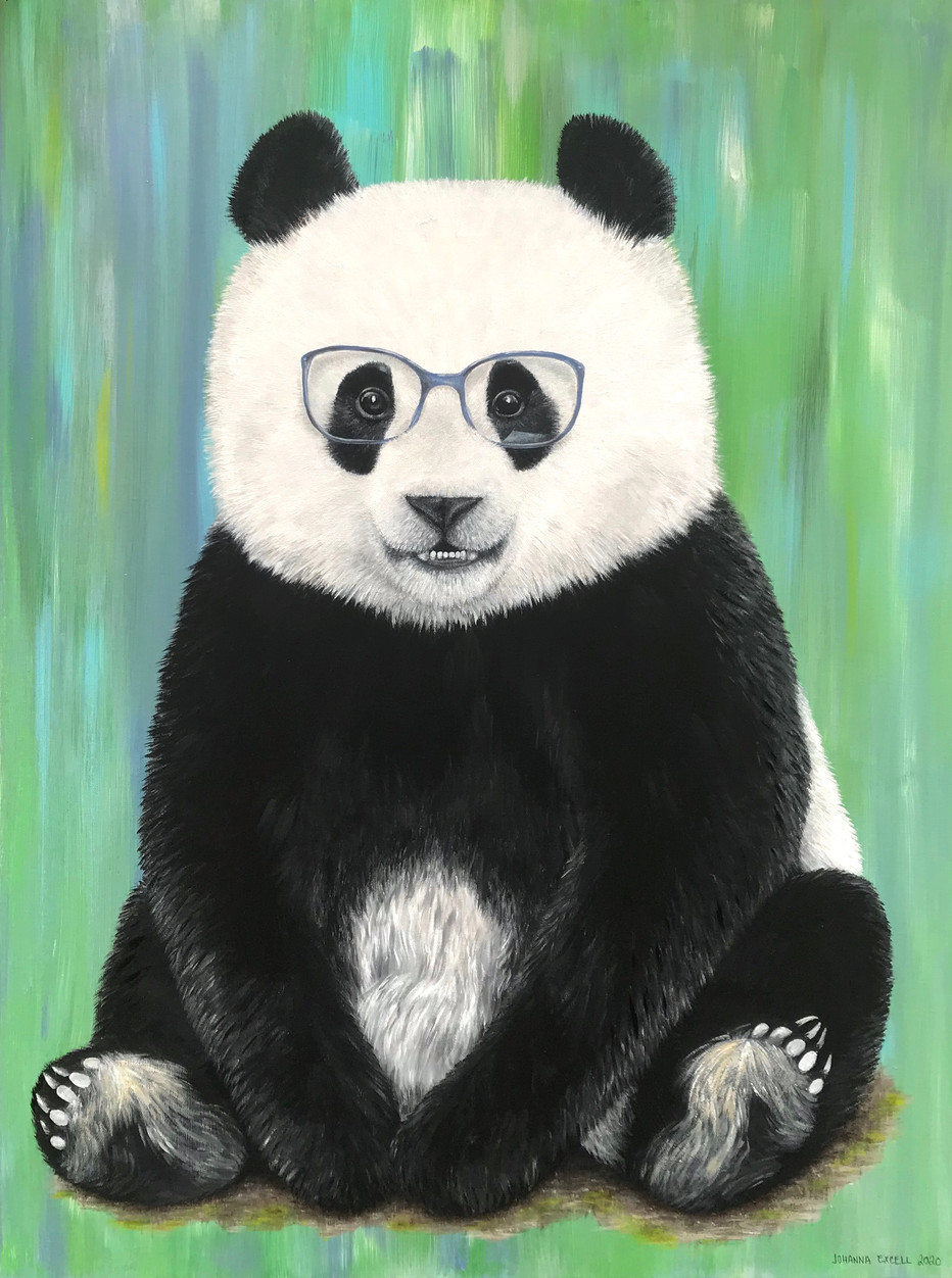 Panda with glasses (commission)