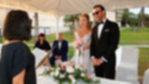 Salahand Yuliia Vasina's Wedding ceremony in the garden of Golden Bay Beach Hotel, Larnaca, happy groom and bride |  beach weddings larnaca, Beach Weddings Packages larnaca, larnaca wedding venues,larnaca civil wedding photographer