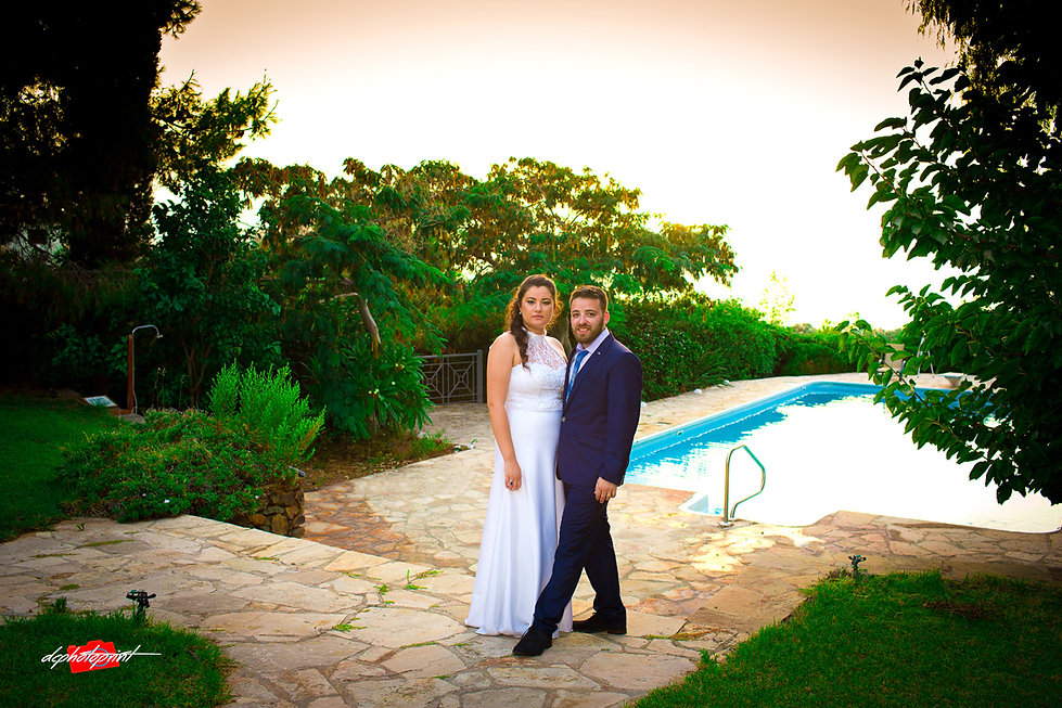 Cheerful married couple standing on the beach | israeli wedding in Paphos cyprus, israeli wedding photography packages cyprus