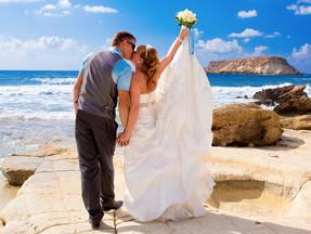 ayia Thekla beach wedding cyprus