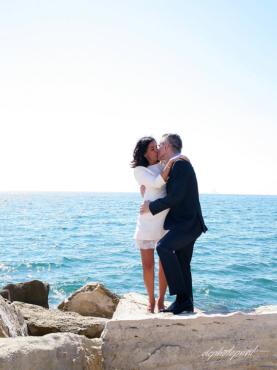 Newlyweds kissing at wedding reception after  the wedding ceremony | limassol best venues weddings venues abroad, limassol town hall weddings venues