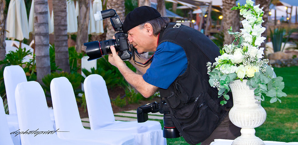 Wedding photographer Demetris specialising in the documentary style wedding photography. He is one of the best professional cyprus wedding photographers for exceptional beautiful wedding pictures of the most Special Day of your life