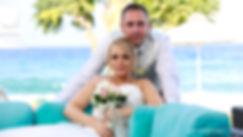 Fine art photo of an attractive wedding couple after wedding on Pernera beach Hotel Protaras cyprus | wedding photography protaras cyprus, wedding protaras photography cyprus