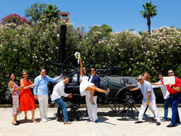 Larnaca  beach weddings ceremony - Clients from abroad