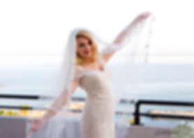 Gorgeous young bride with dark hair in elegant wedding dress  at AMATHUS BEACH HOTEL, Limassol | limassol best venues weddings venues abroad, best wedding venue limassol