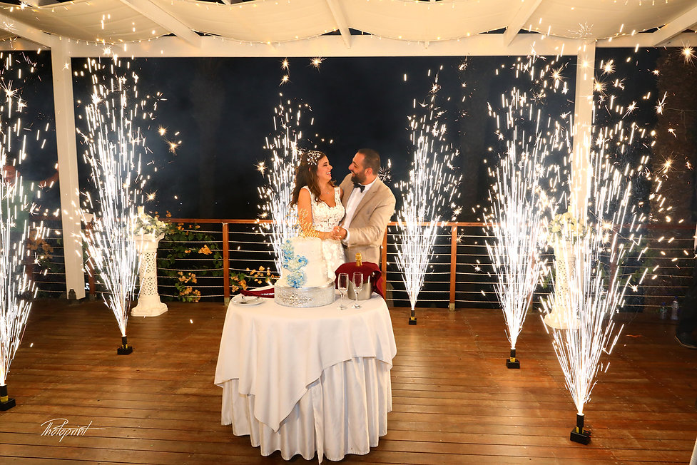 Amazing fireworks show at wedding party | professional photography wedding cyprus