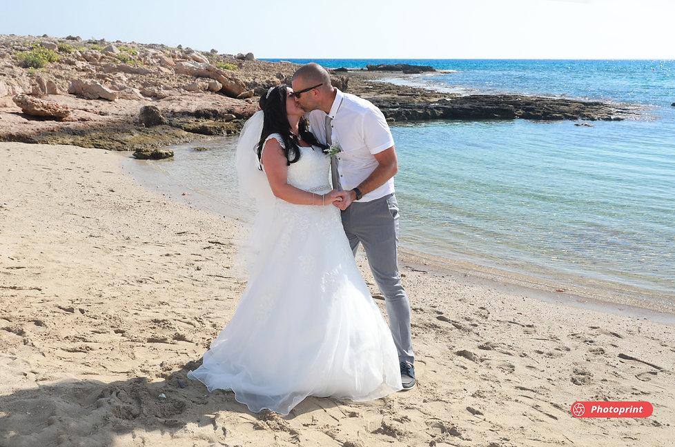 Romantic couple having fun at the seaside ammos tou Kampouri