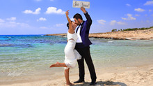 Cyprus ayia napa wedding photographers - beach wedding