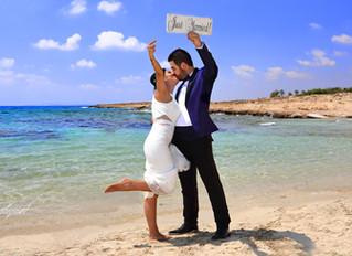 Cyprus ayia napa wedding photographers - beach wedding