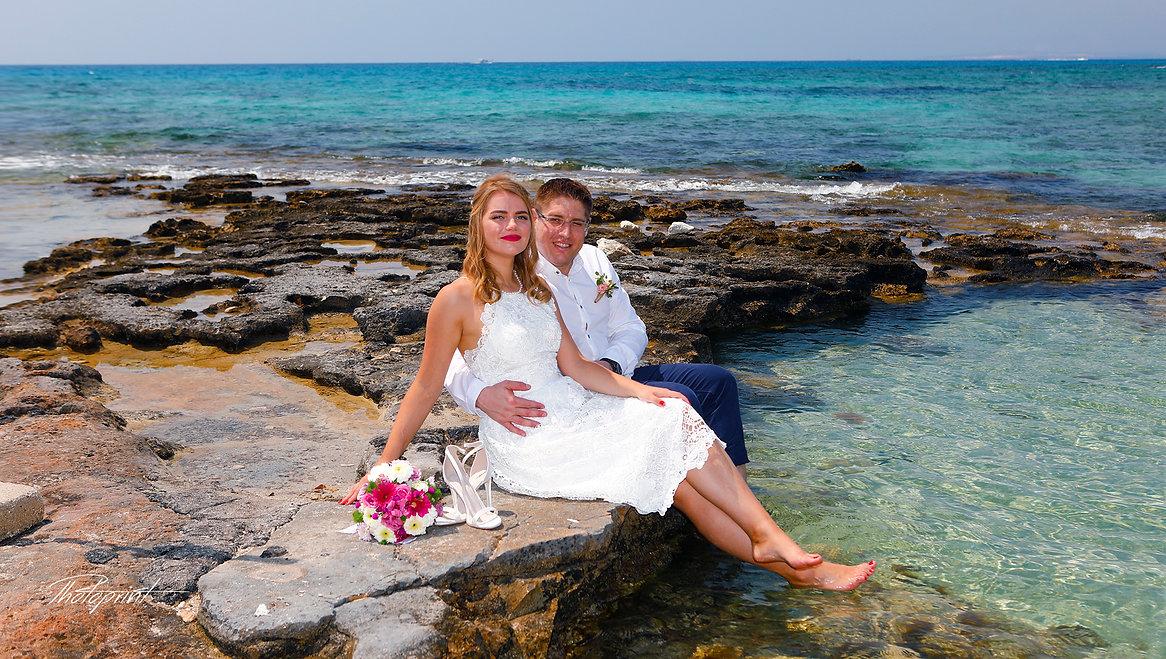 Couple in love in the beach on Mediterranean sea | ayia napa photographer in cyprus, ayia napa photography cyprus, ayia napa photography prices