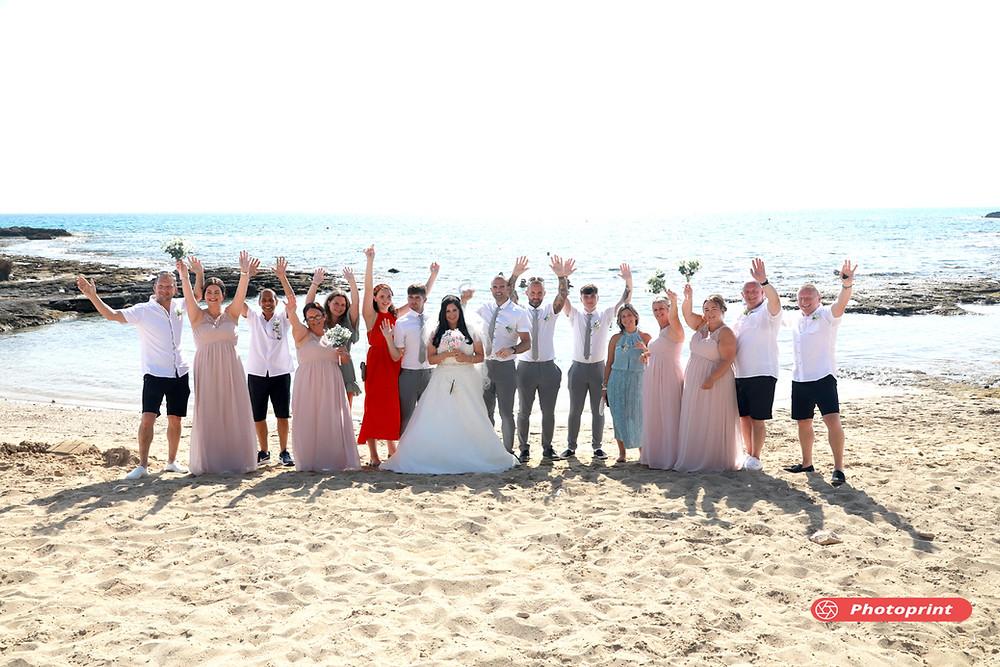 Gareth and Nicola The Beautiful Wedding between  Gareth and Nicola  from ENGLAND, held at the Ammos beach, at Ayia Napa - 20 September 2021