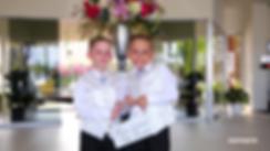 Portrait of two beautiful little boys and girls in wedding dresses | protaras beach hotel wedding photography, protaras  best wedding photographer photography