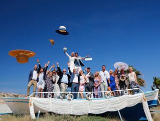 Photoprint cyprus: wedding celebration outdoors cambouri beach