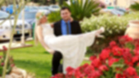 Happy couple after the wedding ceremony in Aradippou town Hall | married in Aradippou municipality cyprus