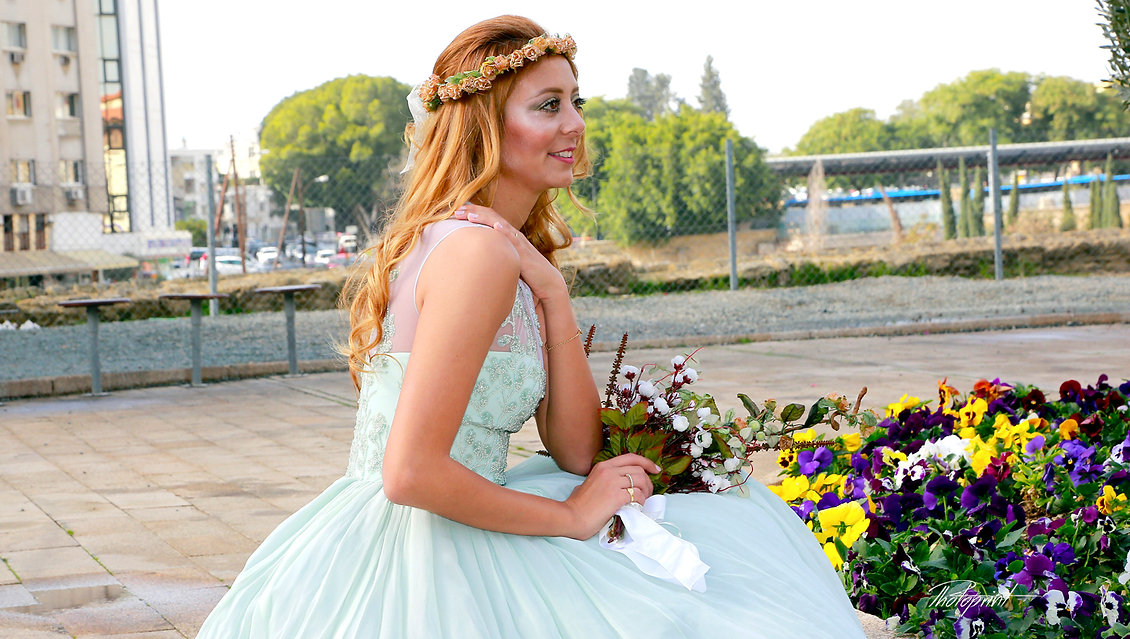 Gorgeous young bride outdoors |  Nicosia Municipality - Procedure For Civil Marriage, cyprus nicosia photographers, Nicosia wedding photographs