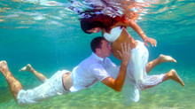 Amazing underwater wedding