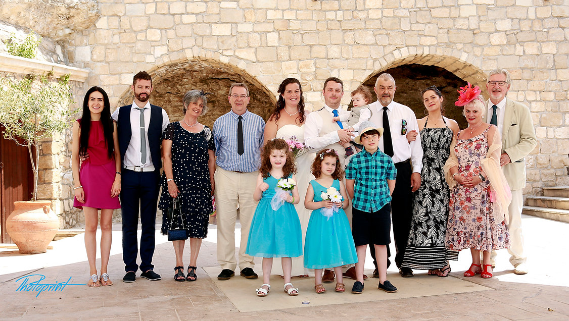 family, guests, bride and groom wedding photos after the wedding ceremony at Geroskipou Municipality in Paphos | wedding Geroskipou photographers cyprus, wedding photographers Geroskipou cyprus, wedding photographers Geroskipou