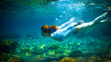 Underwater Wedding Photography-Trash the dress