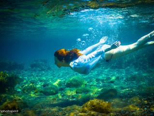 Underwater Wedding Photography-Trash the dress
