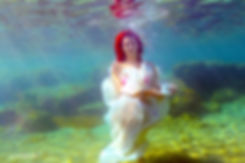tea time for Natasa underwater in Protaras ( funny photo with Natasa underwater ) | wedding photography underwater ayia napa cyprus, underwater wedding photographer in Protaras