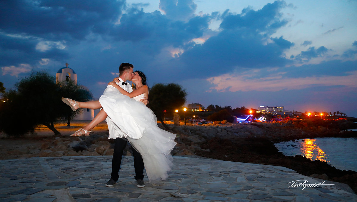 Beautiful and gentle wedding photo session outdoors of the elegant couple, at Protaras | cyprus wedding photographers prices protaras beach cyprus, cyprus wedding photographers prices protaras beach