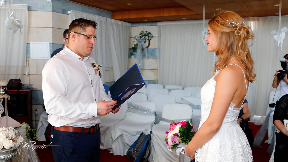 Groom swearing lifetime loyalty  | Ayia Napa Municipality - photoprint cyprus, beach wedding photography ayia napa cyprus, wedding photography ayia napa beach