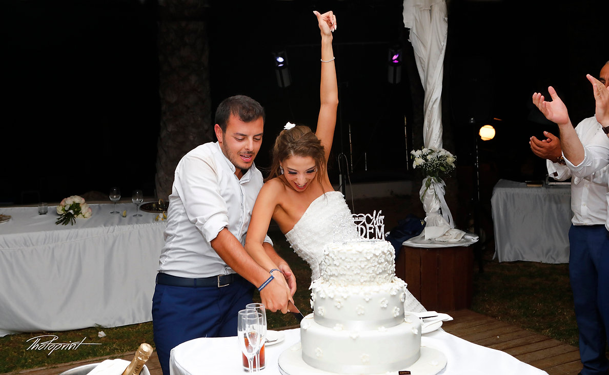 Happy just married young wedding couple celebrating  |  get married in larnaca cyprus, photography websites cyprus, wedding photographers cyprus