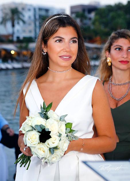 Portrait of beautiful blonde bride outdoors  | cyprus wedding photography limassol, wedding limassol photographer