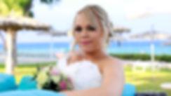 Bride holding beautiful wedding bouquet  on Pernera beach Hotel Protaras, cyprus | wedding protaras photographer photography, cyprus wedding photography protaras