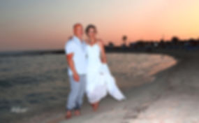 Bride and Groom, at Sunset on a Beautiful Mediterranean Sirens Beach, near ayia Thelka,cyprus | Sirens near ayia Thekla civil weddings, sirens near ayia Thekla  weddings cyprus, ayia Thekla best weddings abroad
