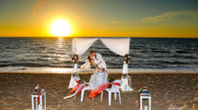wedding photographer paphos prices - beach wedding