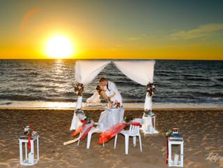 wedding photographer paphos prices - beach wedding