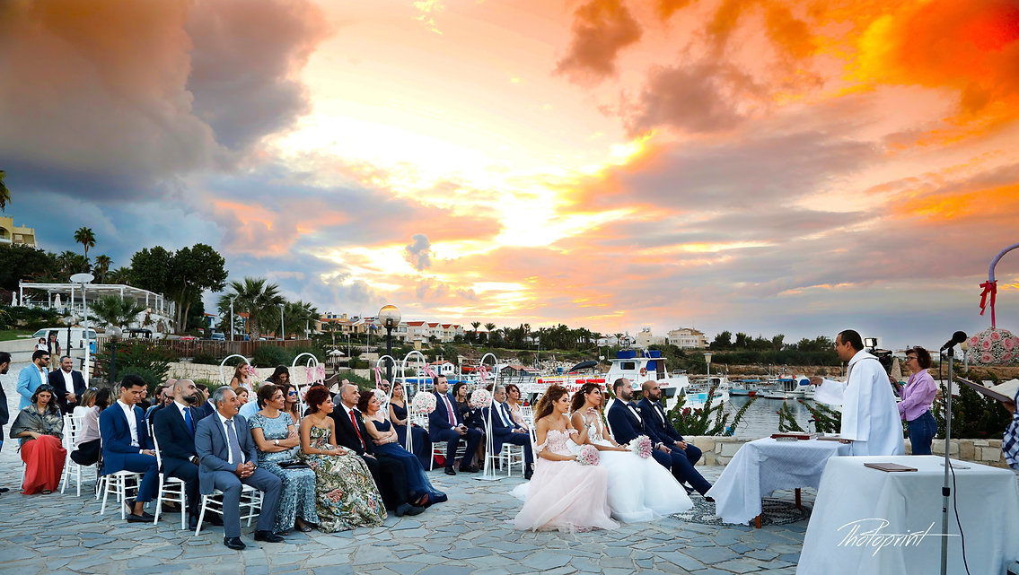 Khalil's and Carine's wedding under a great sunset, my best wedding picture ...