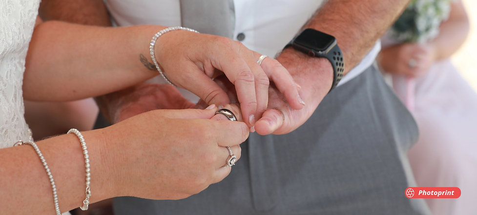 Close up of man hands with wedding ring