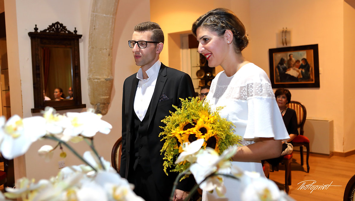 Happy couple during the wedding ceremony | cyprus wedding larnaca photographers websites, cyprus wedding Larnaca photography