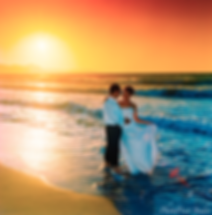 Happy just married young wedding couple celebrating and have fun at beautiful beach sunset  | civil paphos wedding photography