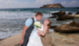 Happy just married young wedding couple celebrating and have fun at beautiful beach sunset | wedding paphos  photographers cyprus, photographer in paphos