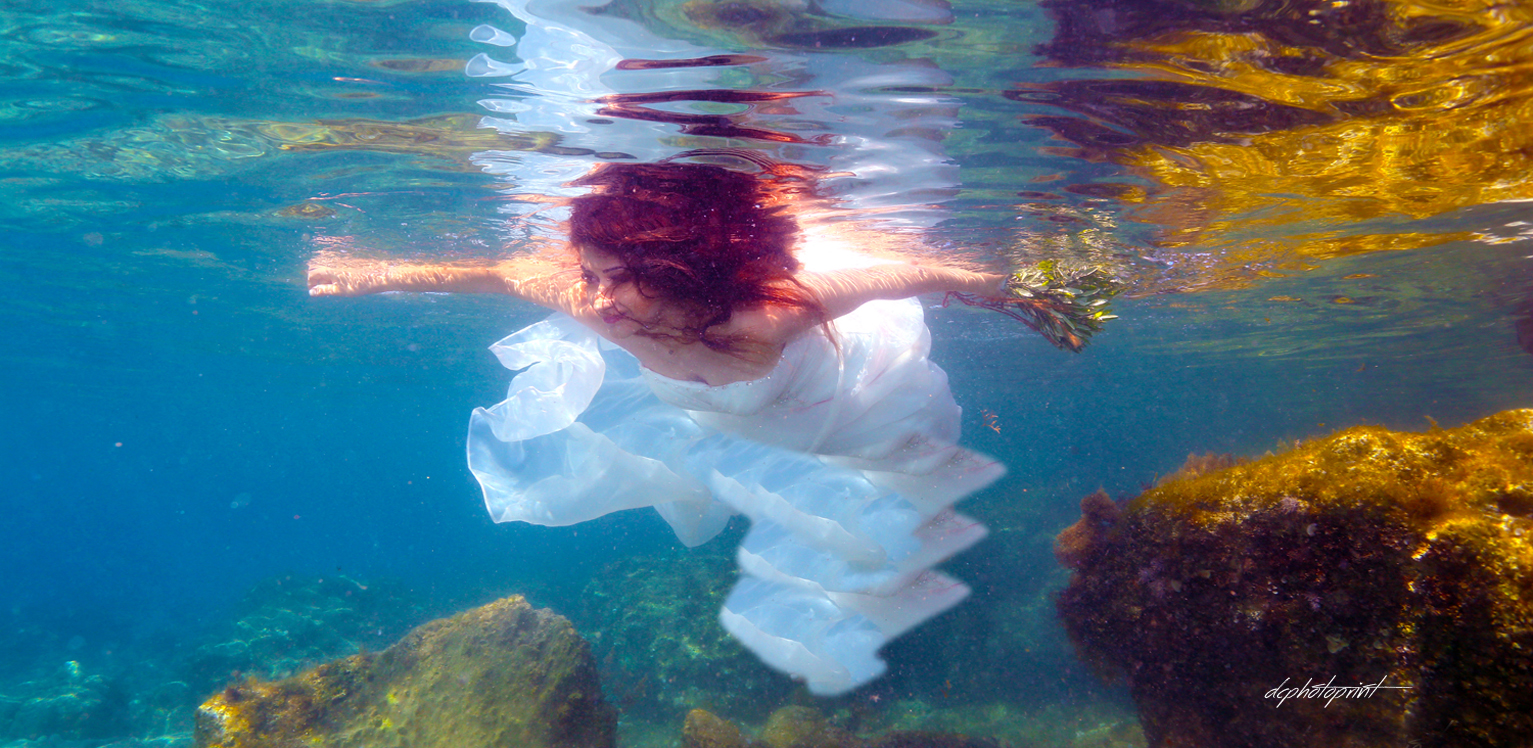 underwater wedding photo ayia napa