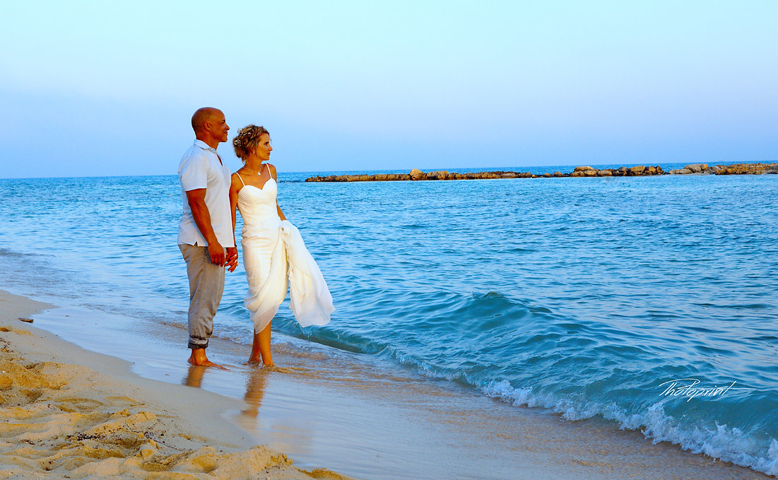 Bride & Groom Married Couple Sunset Beach Wedding | cyprus ayia Thekla  sunset images wedding photography,wedding ayia Thekla  photographers cyprus